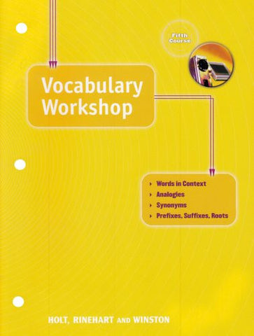 Holt Elements of Language: Vocabulary Workshop, Fifth Course