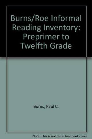 Informal Reading Inventory: Preprimer to Twelfth Grade