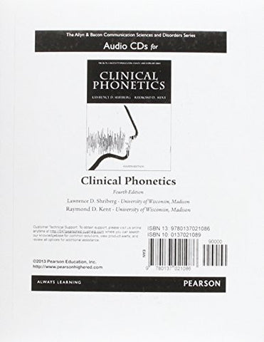 Audio CDs for Clinical Phonetics (The Allyn & Bacon Communication Sciences and Disorders Series)