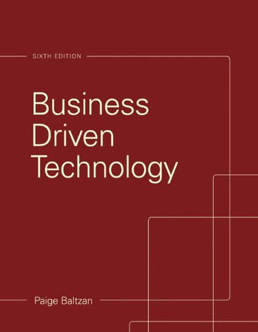 Business Driven Technology (Irwin Management Info Systems)
