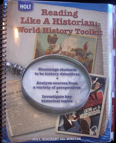 World History: Human Legacy: Reading Like a Historian: World History Toolkit