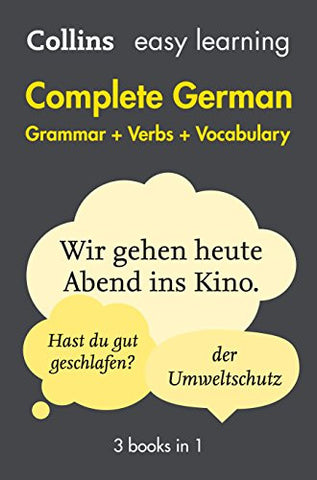 Complete German Grammar Verbs Vocabulary: 3 Books in 1 (Collins Easy Learning)