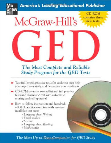 McGraw-Hill's GED w/ CD-ROM: The Most Complete and Reliable Study Program for the GED Tests