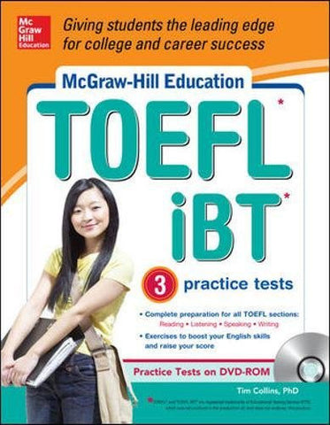 McGraw-Hill Education TOEFL iBT with 3 Practice Tests and DVD-ROM