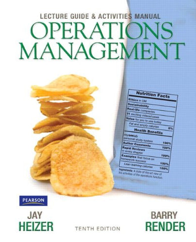 Lecture Guide and Activities Manual for Operations Management Flexible Edition