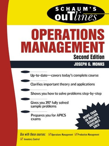 Schaum's Outline of Operations Management