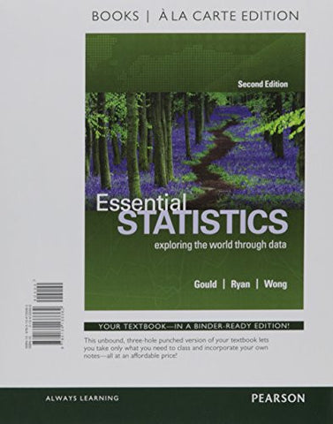 Essential Statistics, Books a la Carte Edition Plus MyStatLab with Pearson eText -- Access Card Package (2nd Edition)