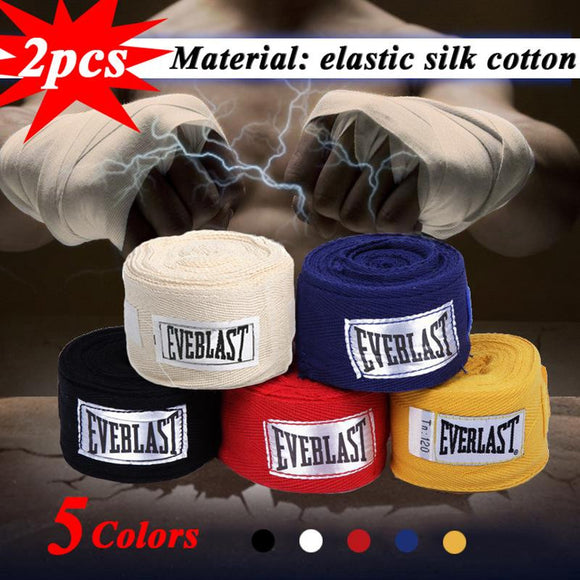 2PCS/Roll Cotton 3M Box Sports Strap Boxing Bandage Sanda Muay Thai Mma Taekwondo Hand Gloves Wraps Adult Male