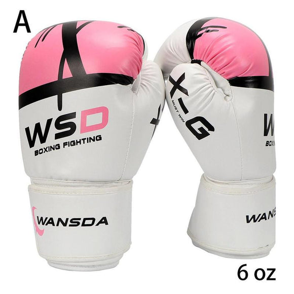 HIGH Quality Adults Women / Men Boxing Gloves Leather MMA Muay Thai Boxe De Luva Mitts Sanda Equipments