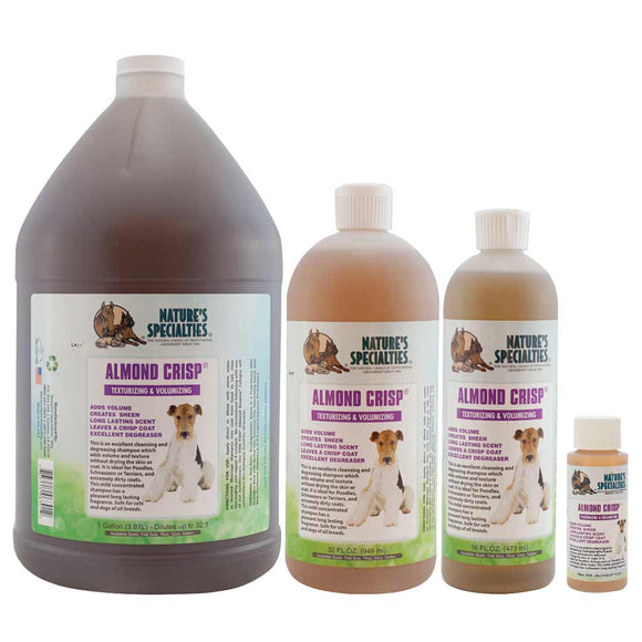 All Sizes of Nature's Specialties Almond Crisp Shampoo for Dogs & Cats