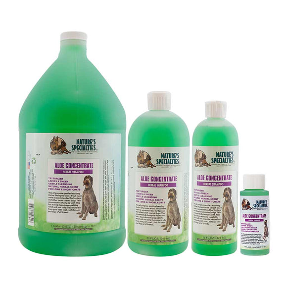 All Sizes of Nature's Specialties Aloe Concentrate Shampoo for Dogs & Cats