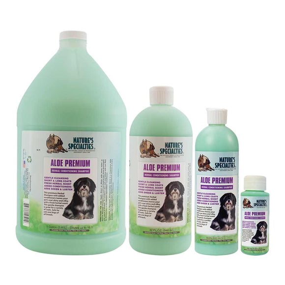 All Sizes of Nature's Specialties Aloe Premium Shampoo for Dogs & Cats