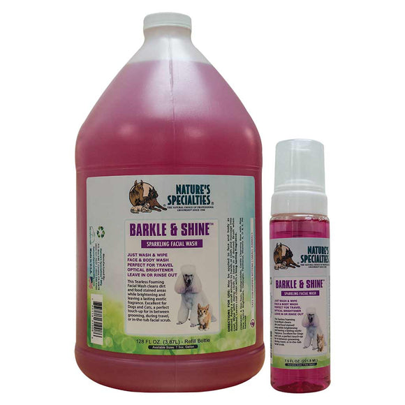 All sizes of Nature's Specialties Barkle and Shine Facial Wash