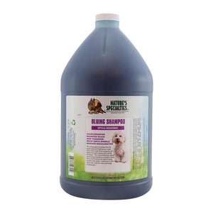 All Sizes of Nature's Specialties Aloe Bluing Shampoo with Optical Brighteners for Dogs & Cats