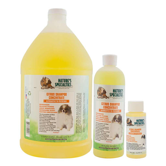 All Sizes of Nature's Specialties Citrus Shampoo for Dogs & Cats