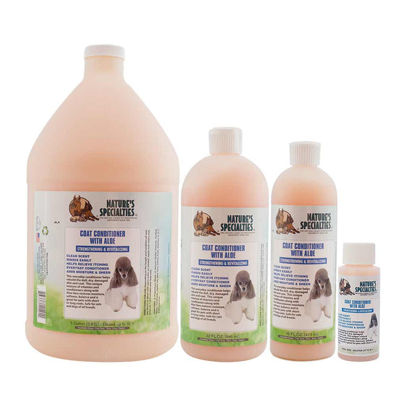 All Sizes of Nature's Specialties Coat Conditioned with Aloe