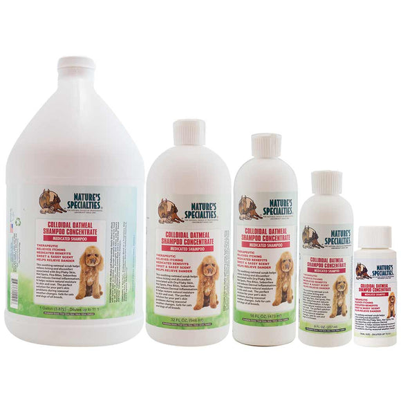 All Sizes of Nature's Specialties Colloidal Oatmeal Shampoo for Dogs & Cats
