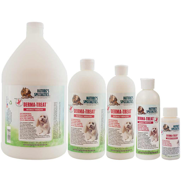 All Sizes of Nature's Specialties Derma-Treat® Shampoo for Dogs & Cats