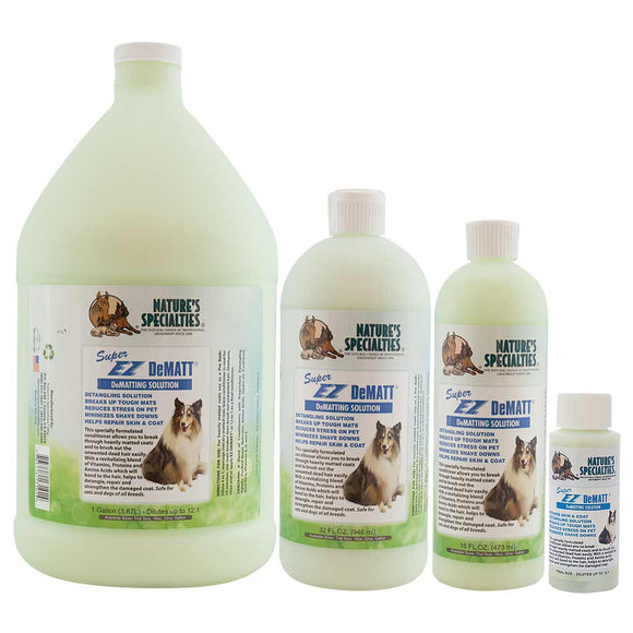 All Sizes of Nature's Specialties Super EZ Dematt Conditioner for Dogs & Cats