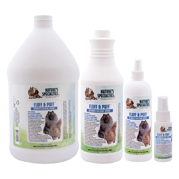 All Sizes of Natures Specialties Fluff & Puff™ Re-Moisturizing Spray