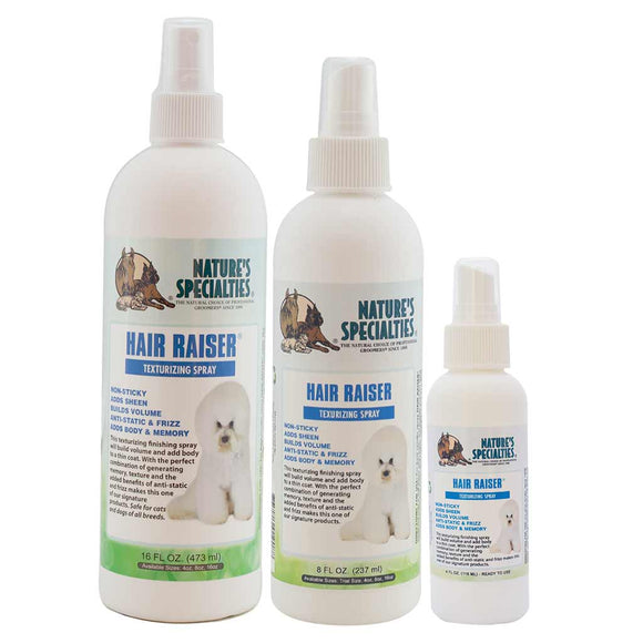 All Sizes of Nature's Specialties Hair Raiser® for Dogs & Cats Texturizing Spray