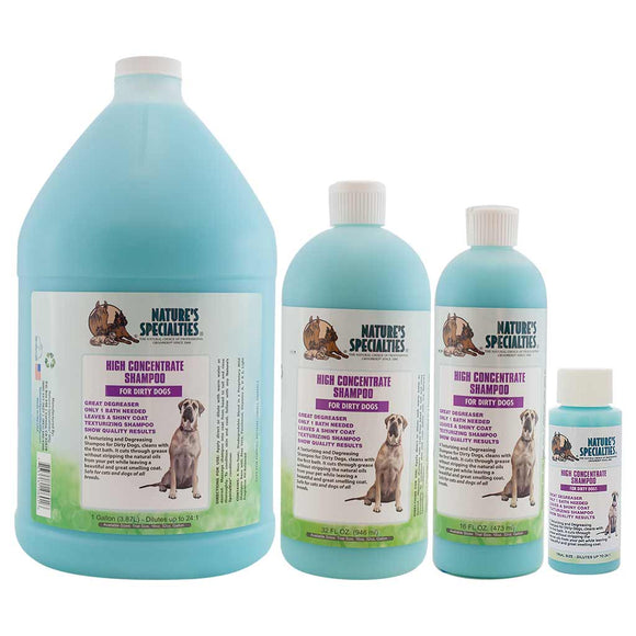 All Sizes of Nature's Specialties High Concentrate Shampoo for Dirty Dogs