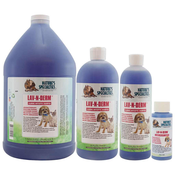 All Sizes of Nature's Specialties Lav-N-Derm® Shampoo for Dogs & Cats