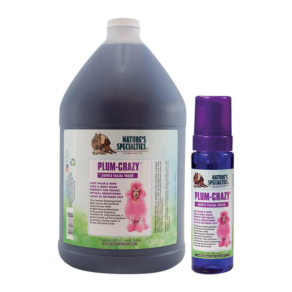 All Sizes of Nature's Specialties Plum-Crazy Facial Wash for Dogs & Cats