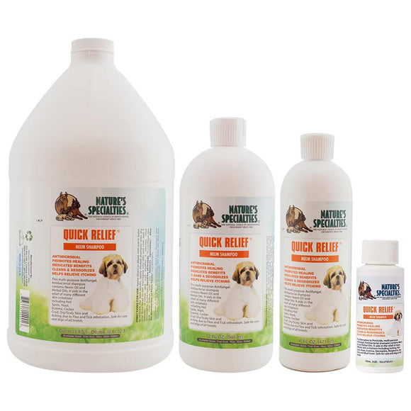 All Sizes of Nature's Specialties Quick Relief Neem Shampoo