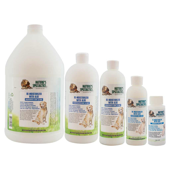 All Sizes of Nature's Specialties Re-Moisturizer with Aloe for Dogs & Cats
