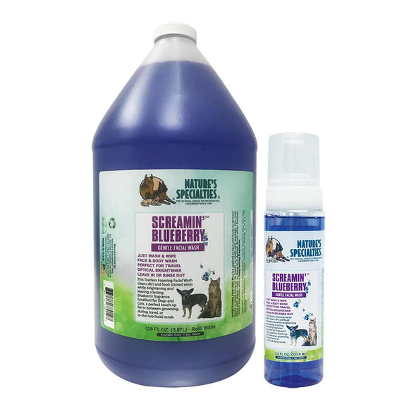 All Sizes of Nature's Specialties Screamin' Blueberry Facial Wash for Dogs & Cats