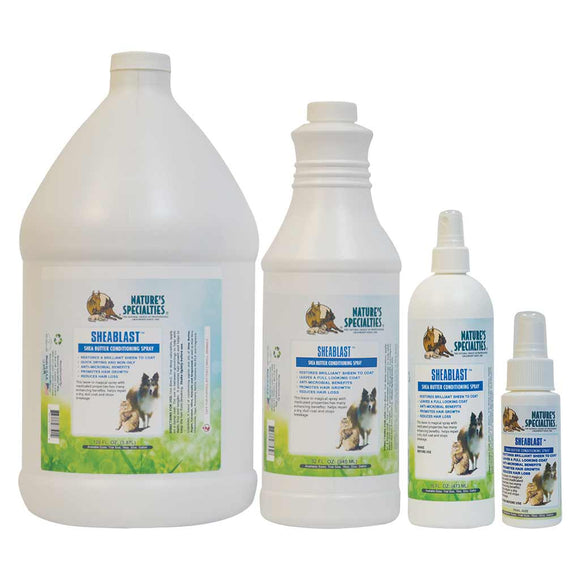 All Sizes of Nature's Specialties Sheablast Conditioning Spray