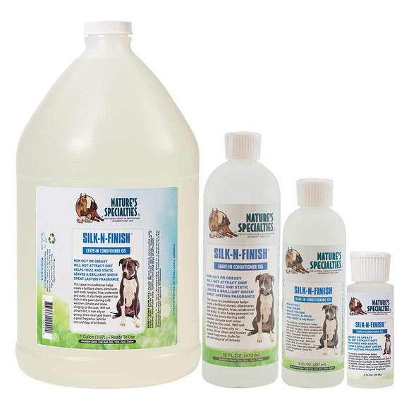 All Sizes of Nature's Specialties Silk-N-Finish Gel for Cats & Dogs