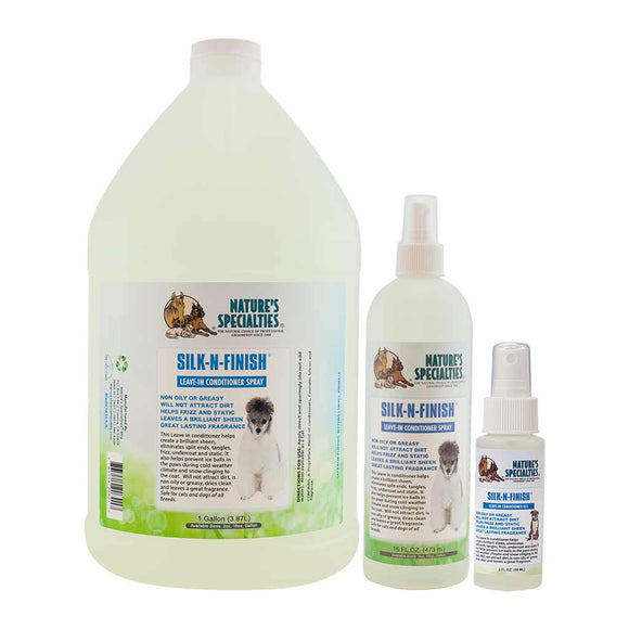 All Sizes of Nature's Specialties Silk-N-Finish Spray for Dogs & Cat