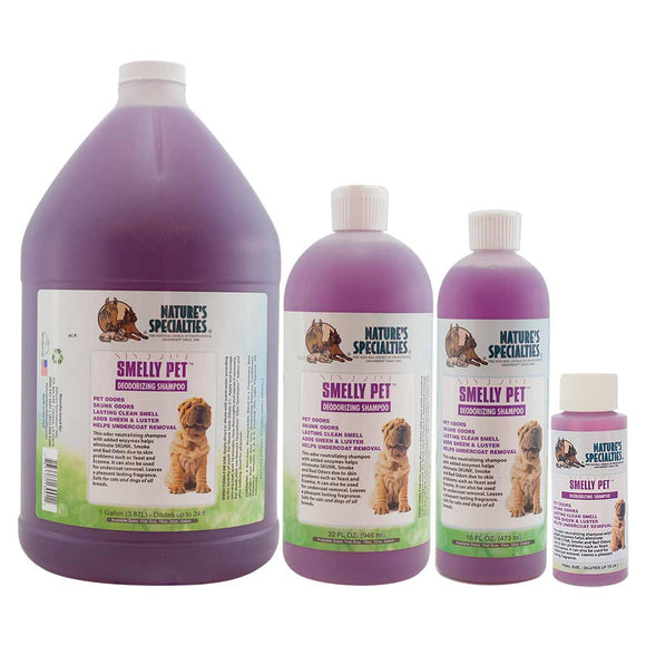 All Sizes of Nature's Specialties Smell Pet Shampoo Deodorizing Shampoo for Dogs and Cats