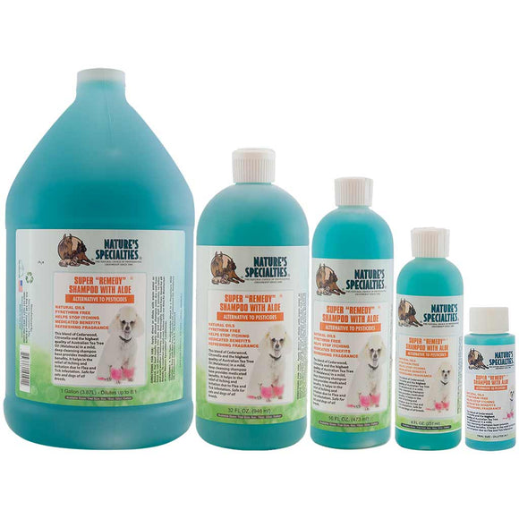 All Sizes of Nature's Specialties Super Remedy Shampoo for Dogs & Cats