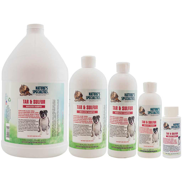 All Sizes of Nature's Specialties Tar & Sulfur with Aloe Shampoo