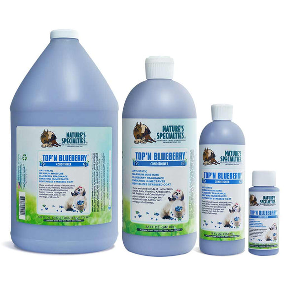 All Sizes of Nature's Specialties Top'n Blueberry Conditioner
