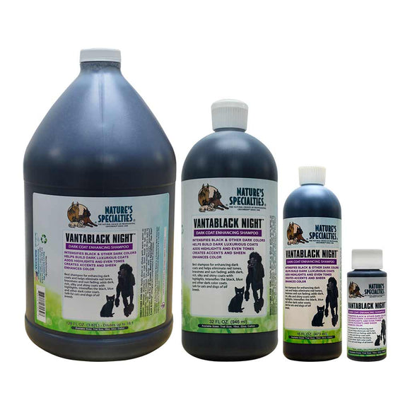 All Sizes of Nature's Specialties VantaBlack Night Shampoo for Dogs & Cats