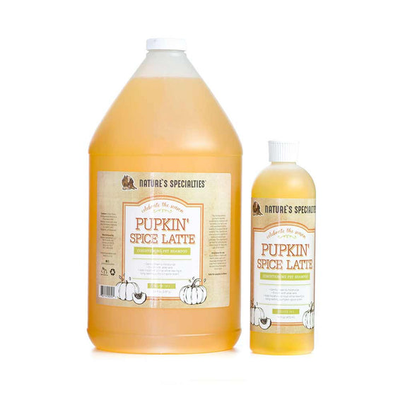 All Sizes of Nature's Specialties Pupkin Spice Latte Shampoo