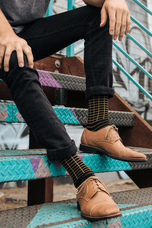 Golden Waves Dress Socks