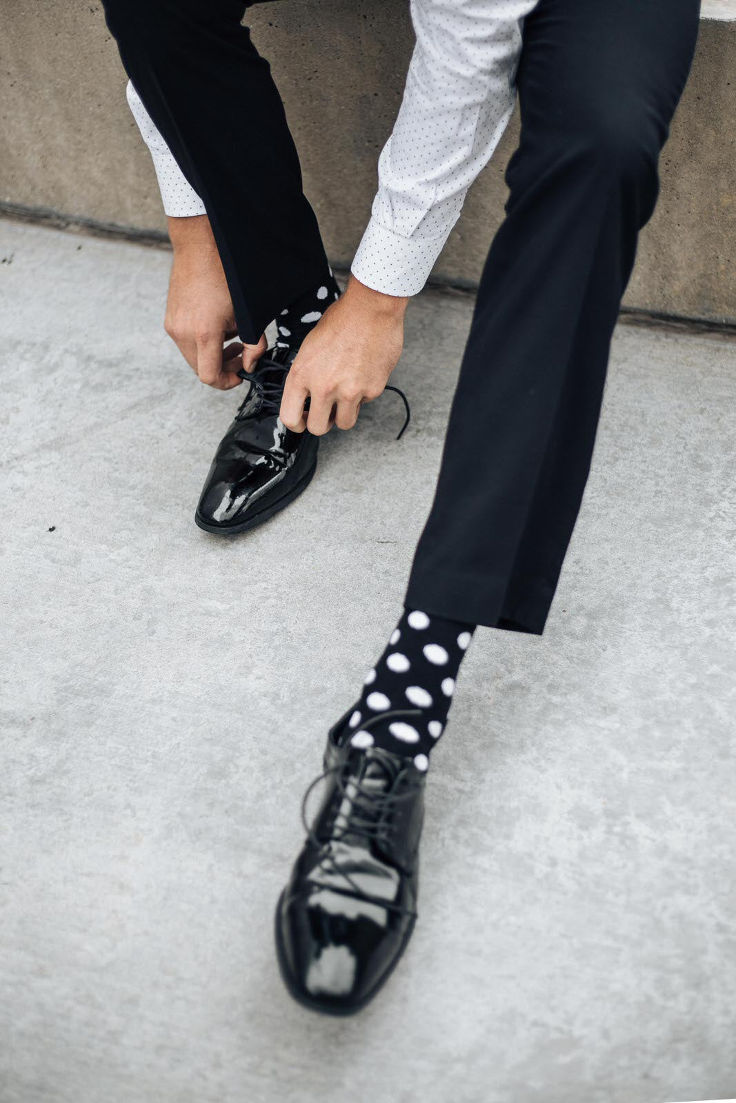 Polka Dot Family Dress Socks
