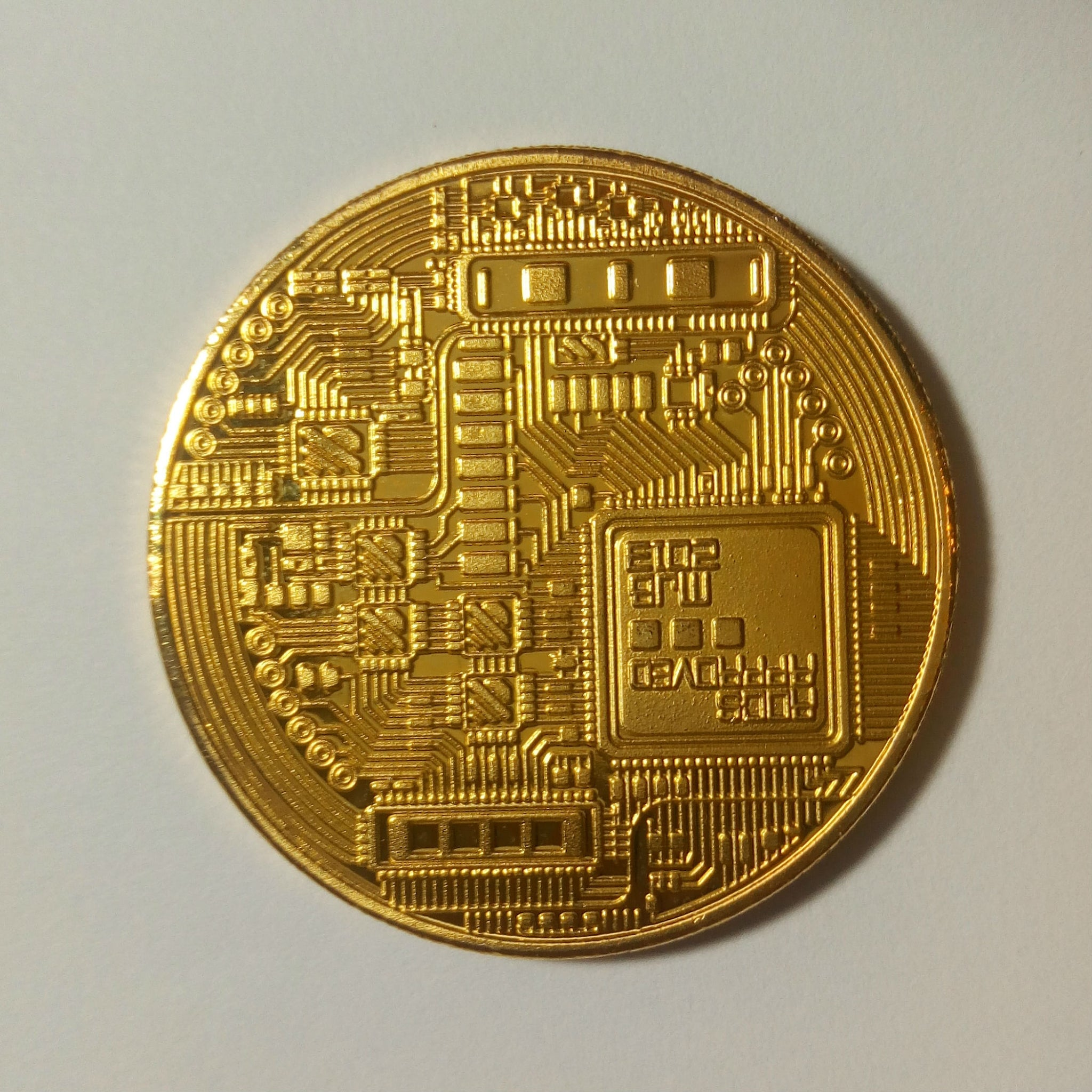 Physical Gold Bitcoin Coin