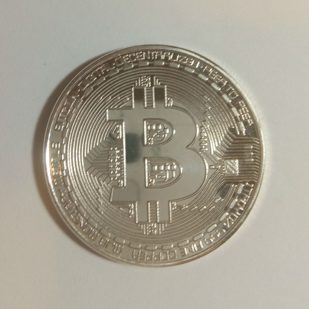Physical Silver Bitcoin Coin
