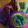 PRE-ORDER Hand painted Rainbow Voodoo Gradient Self Striping Sock Yarn  - 80/20 merino