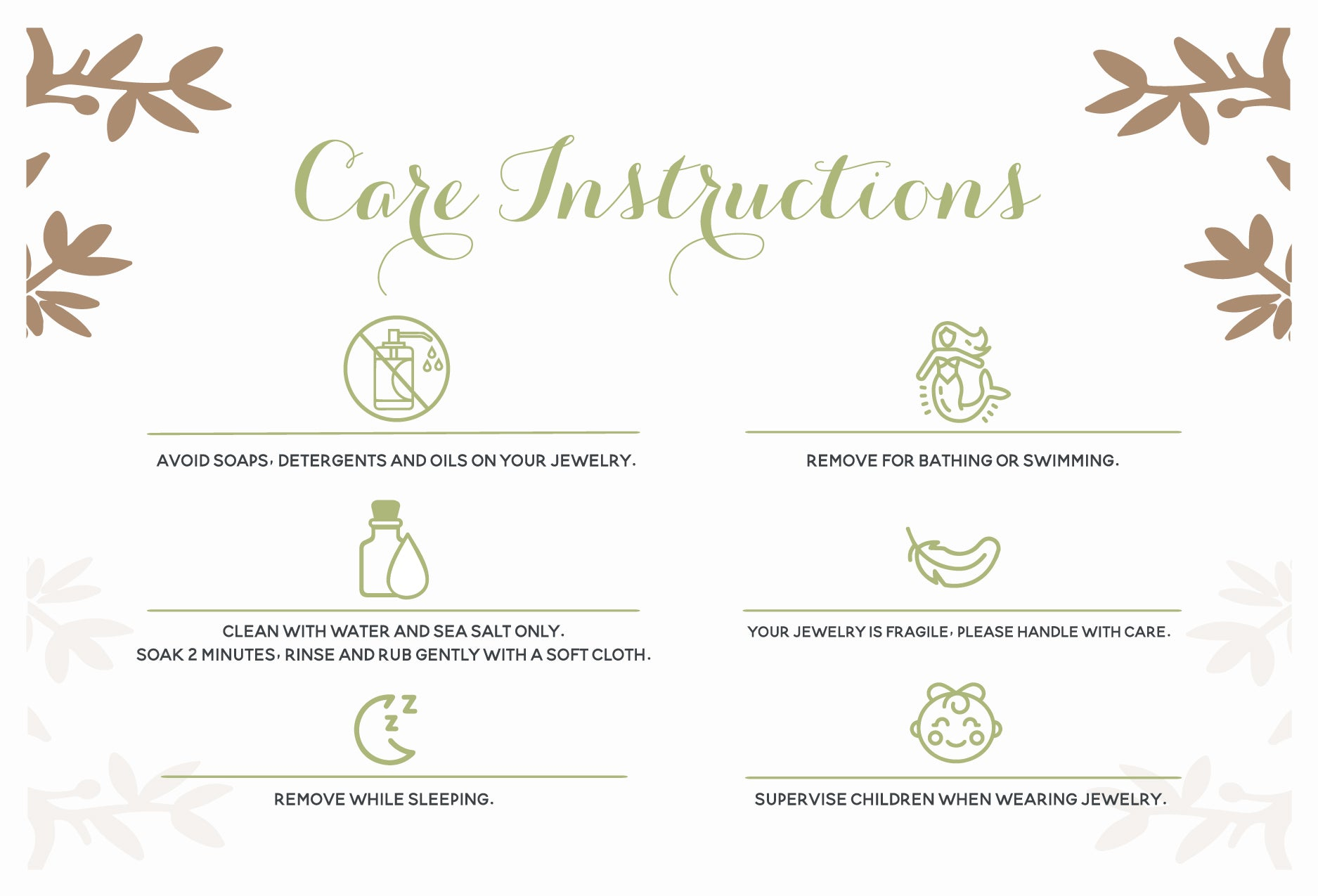 BALTIC AMBER CARE INSTRUCTIONS BY MACRAE NATURALS
