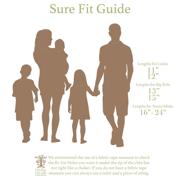 MacRe Naturals Sure Fit Guide- Family lengths- How to measure