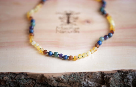 Baltic Amber Teething Necklace by MacRae Naturals Migraine Relief Necklace