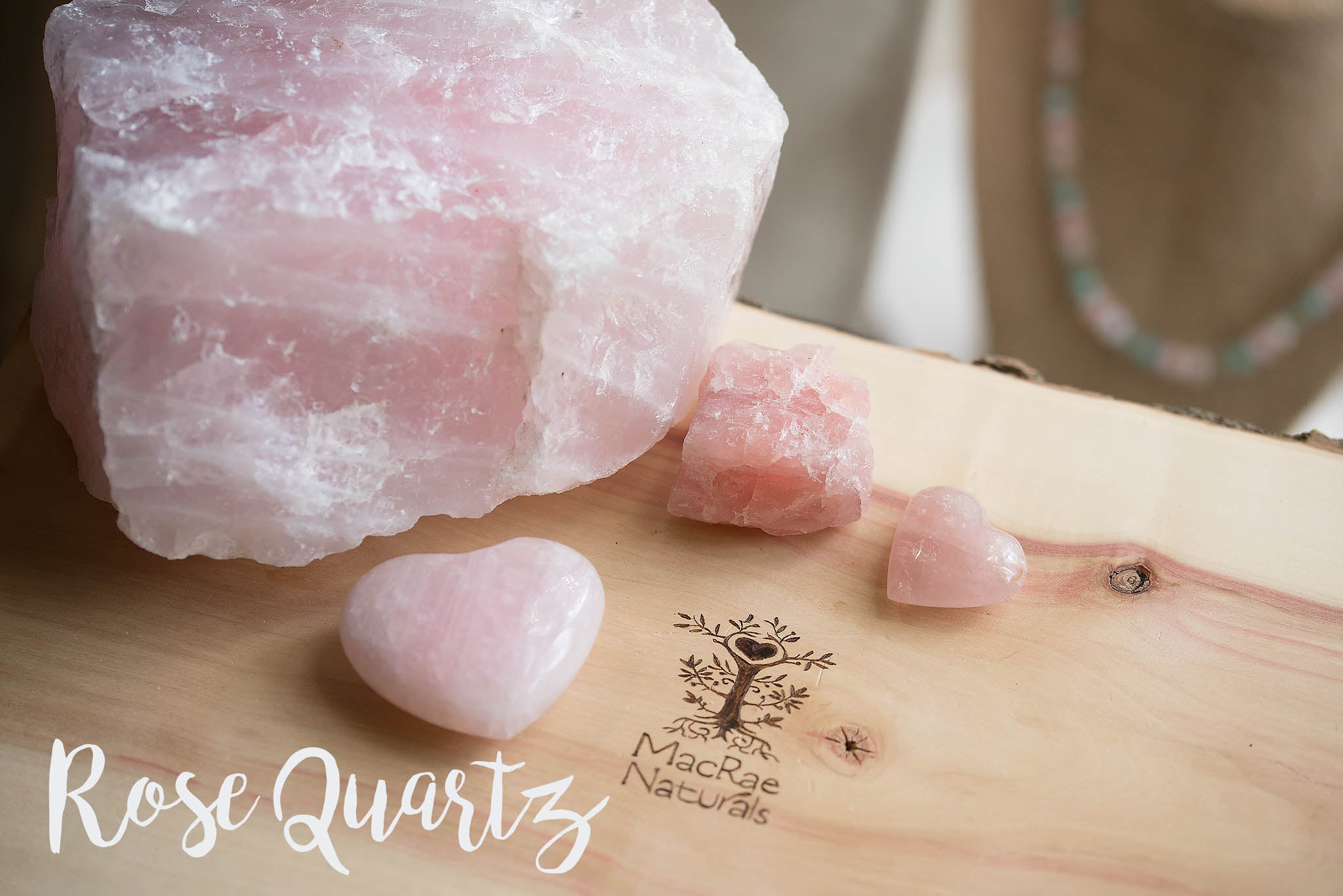 MacRae Naturals Crystal Healing Jewelry- Rose Quartz Blog