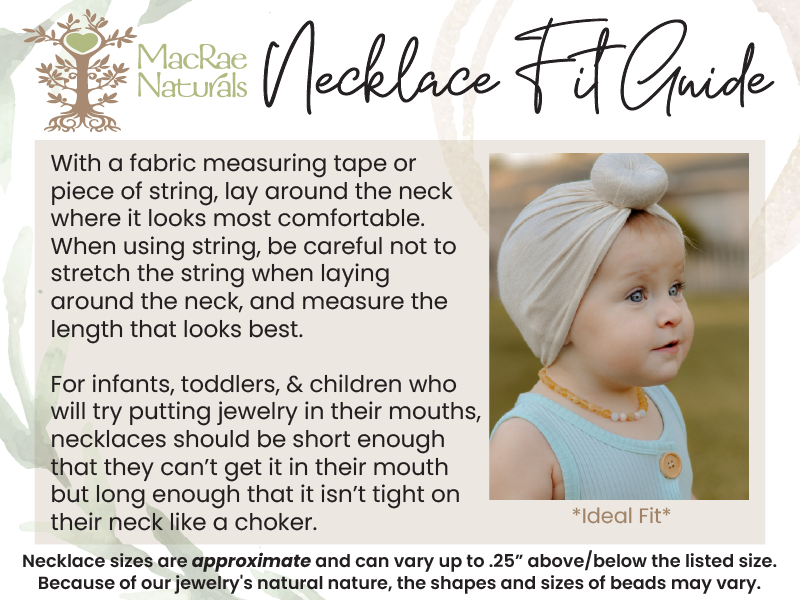 Necklace Fit Guide for MacRae Naturals